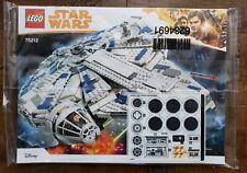 Star Wars LEGO - 75212 Millennium Falcon Instructional Booklet + Sticker Sheet