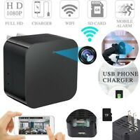 WiFi Full HD 1080P USB Wall Charger Mini Motion Hidden Camera Power Adapter US D