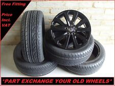 "2351 Genuine 20"" Land Rover Alloy Wheels & New Tyres To Fit VW Transporter T5 T6"