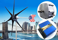 Patriot 1600 Watt Wind Turbine Generator PMA 12 V AC+ Charge Controller 6 Blade