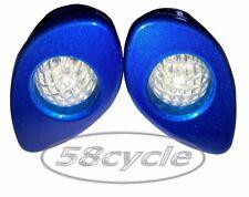2006-2007 Honda CBR1000RR Greggs Custom Signals Blue Fluted Front Lights