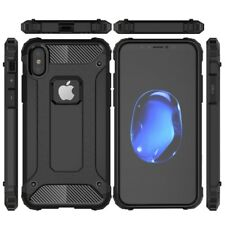 IPhone X Case / IPhone 10 Case Shockproof Hybrid Dual Layer Case - Black