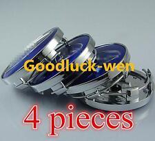 "2.25"" Wheel Center Caps For Blue Subaru Impreza Legacy Forester Tribeca STI WRX"