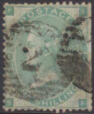 GB - Queen Victoria - 1870 - 1 shilling green - Plate 2 - used - SG90 - FS/SF
