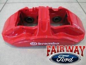 15 thru 20 Mustang OEM Ford 2-piece Brembo Red Brake Caliper GT350R - FRONT ONLY