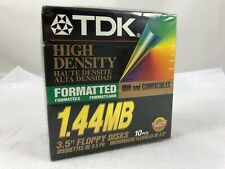 """TDK High Density 1.44 MB Formatted 3.5"""" Floppy Disks 10 Pack MF-2HDIF NEW"""