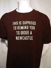 Newcastle Brown Ale Beer United Kingdom England Pub No Bollocks Bar T Shirt XL