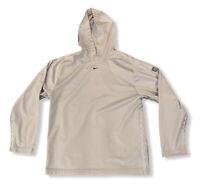 Vtg Nike Gray Tag Men's Travis Scott Center Swoosh Hoodie Sweatshirt Size Large