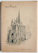 livre LA SAINT CHAPELLE illustrations de Albert ROBIDA Paris 1927