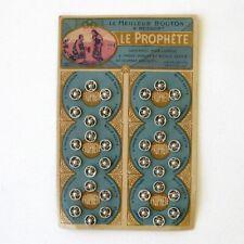 Anciens Boutons Pression LE PROPHETE Argenté  - Plaque de 36 - Neuf -