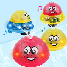 Children Electric Induction Sprinkler Water Spray Toy Music Light Baby Bath Toys