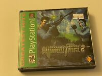 🔥 SYPHON FILTER 2 🔥PS1 PlayStation 1 PSX 💯 COMPLETE MINT RARE GREEN LABEL 🔥
