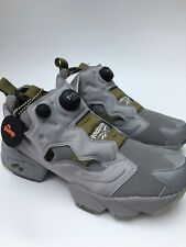 Reebok Instapump Fury Rare Colour Trainers V70707 Grey Olive Oatmeal UK 6 BNIB