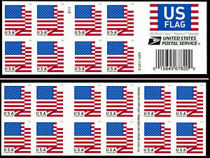 2018 USPS Forever Flag - 5 books of 20 Stamps (100 total)