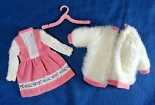 Vintage Skipper Doll Pink Party Pair Dress and White Jacket, Pink Hanger