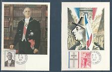 carte  1er jour  les 4 général de Gaulle 52 Colombey les deux églises   1971