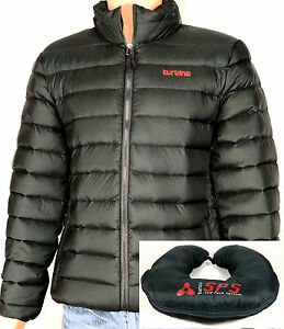 Turbine Down Jacket Packable into Travel Pillow Men's Black