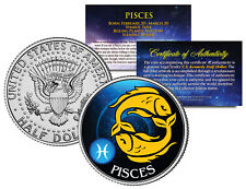 PISCES Horoscope Astrology Zodiac Kennedy U.S. Colorized Half Dollar Coin