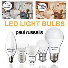 PAUL RUSSELLS Led Light Bulbs BC ES SES 3W 4W 5W 7W 12 Watt (25 40 60 100 Watt )