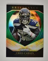 2020 Prizm Brilliance Green #15 Chris Carson - Seattle Seahawks