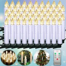 50X LED Weihnachtskerzen Lichterkette Kabellose Kerzen Deko Warm Fernbedienung