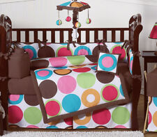 Modern Polka Dot Baby Bedding Collection Crib Set for Newborn Girl Sweet Jojo