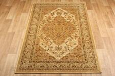 Gold Beige Silk Like Traditional Oriental Persian Antique Rug 160x235cm -50%OFF
