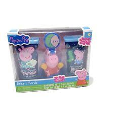 PEPPA PIG Soap & Scrub GIFT SET Body Wash Bath Pouf Toy Shampoo