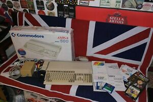 Commodore Amiga 500 with A501 upgrade, Boxed and in Good Cond