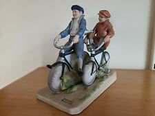 "Norman Rockwell ""Bicycle Boys"" Figurine 1981 Porcelain Hand Painted"