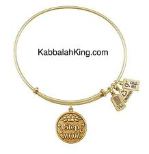 Wind & Fire Step Mom Charm Gold Expandable Bangle Bracelet Made In USA