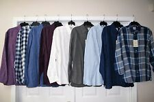 MURANO REGULAR FIT 100% LINEN BUTTON DOWN SHIRT SEVERAL STYLES & COLORS NEW!