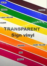 Sign vinyl - A4 sheet (210x297mm) - (gloss) transparent clear
