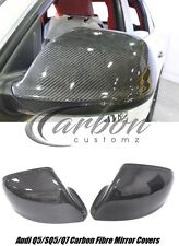 NEW Audi Q5/SQ5/Q7 Carbon Fibre Replacement Mirror Covers - UK seller -