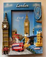 Photo Frame London 3D Sights Hand Painted Wooden Photo Frame Souvenir Gift
