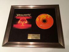 FIRMATO/AUTOGRAFATO Megadeth - GREATEST HITS incorniciato CD presentation.dave