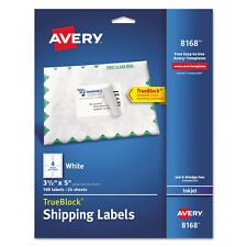 Avery Shipping Labels with TrueBlock Technology Inkjet 3 1/2 x 5 White 100/Pack