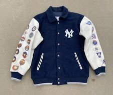 Boy's New York Yankees 26 Times World Series Letterman Jacket Size Large