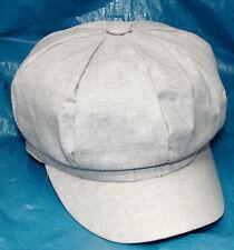 Stone Grey 100% Cotton Summer Baker Boy Cap Hat Womens Ladies One Size Bargain
