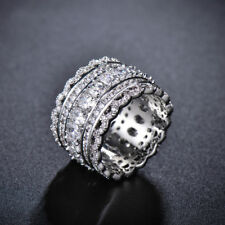 5Ct Round Cut Diamond Vintage Antique Cocktail Band Ring 18ct White Gold Over