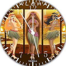"Hawaiian hula Dance wall Clock 10"" will be nice Gift and Room wall Decor E31"