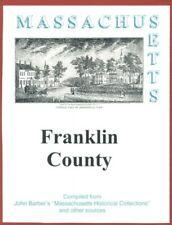 MA Franklin County Massachusetts Greenfield Deerfield RP 1839 Barber History WPA
