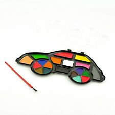 Water Colour Paints And Brush Set - Colors  Kids Art Craft Artist Box Case - Car
