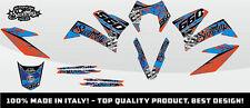 KIT ADESIVI GRAFICHE #CAMOSPLATTER BLUE ORANGE KTM 660 SMC 2005 2006 2007 DEKOR