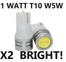 T10 194 168 W5W LED Xenon 6000K Cob bright White 1w Light Bulbs Side Wedge 10mm