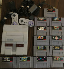 Super Nintendo Bundle Tested & Working Snes 13 Games, 2 Controllers