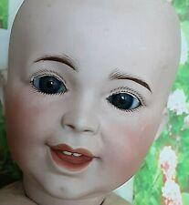 Very cute SFBJ 236 Laughing JUMEAU bisque head doll c1900. 19 inches tall.