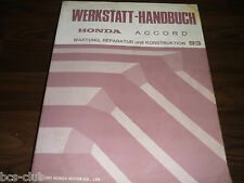 HONDA ACCORD 1993 - 1997 Motor Fahrwerk Karosserie GENERAL WERKSTATT HANDBUCH