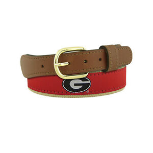 ZEP PRO University of Georgia Bulldogs Leather Canvas Embroidered Ribbon Belt NW