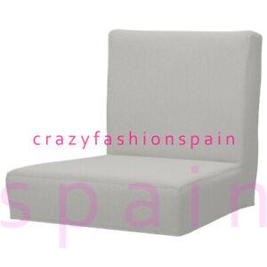 IKEA HENRIKSDAL Cover for bar stool with backrest, Orrsta light grey